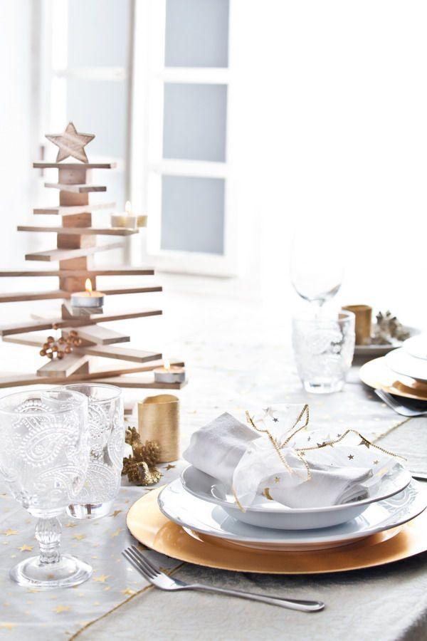 Propuestas para la decoraci n navide a mesas navide as - Mesa navidena decoracion ...