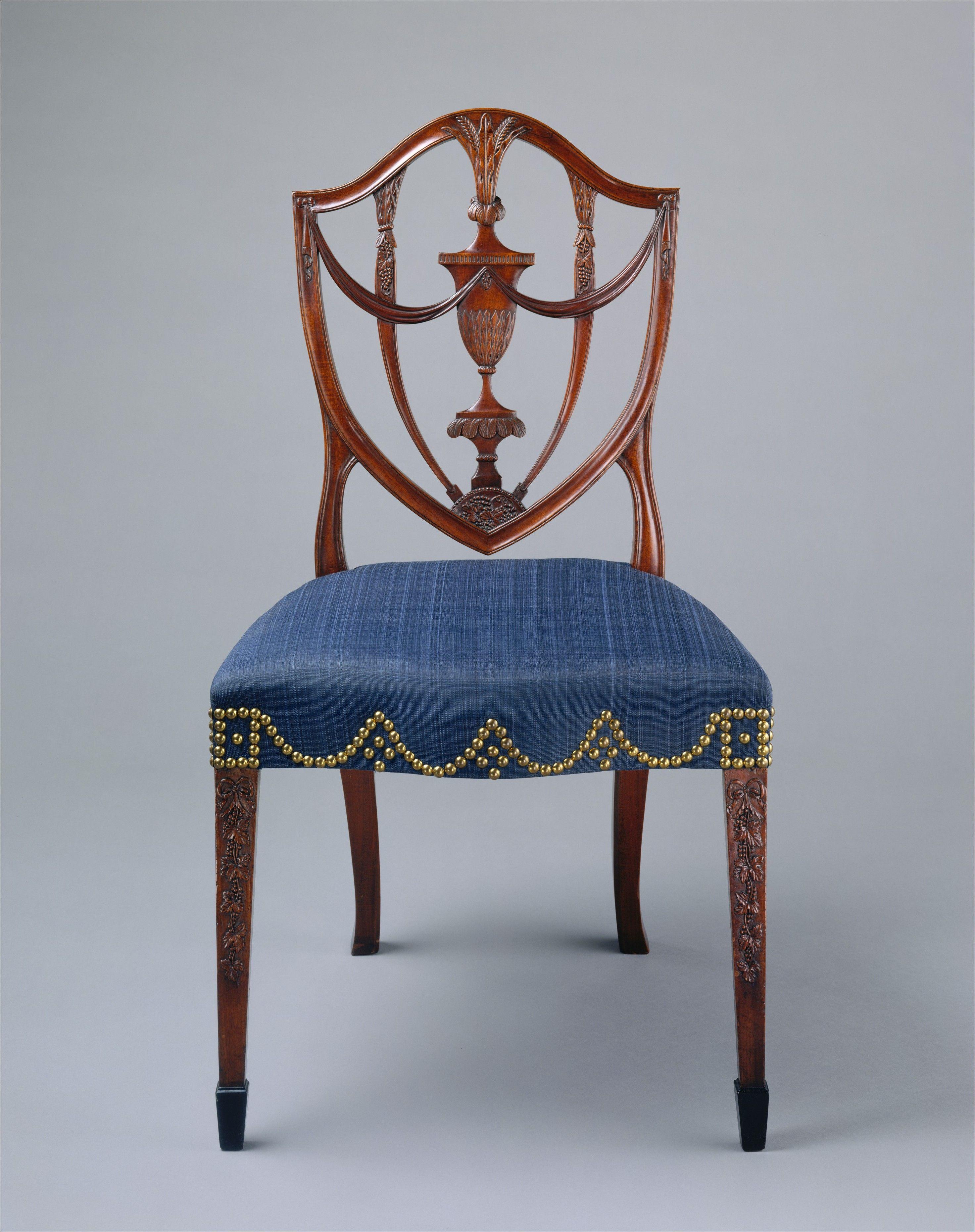 Side Chair Samuel Mcintire 1794 99 American Mahogany Ebony