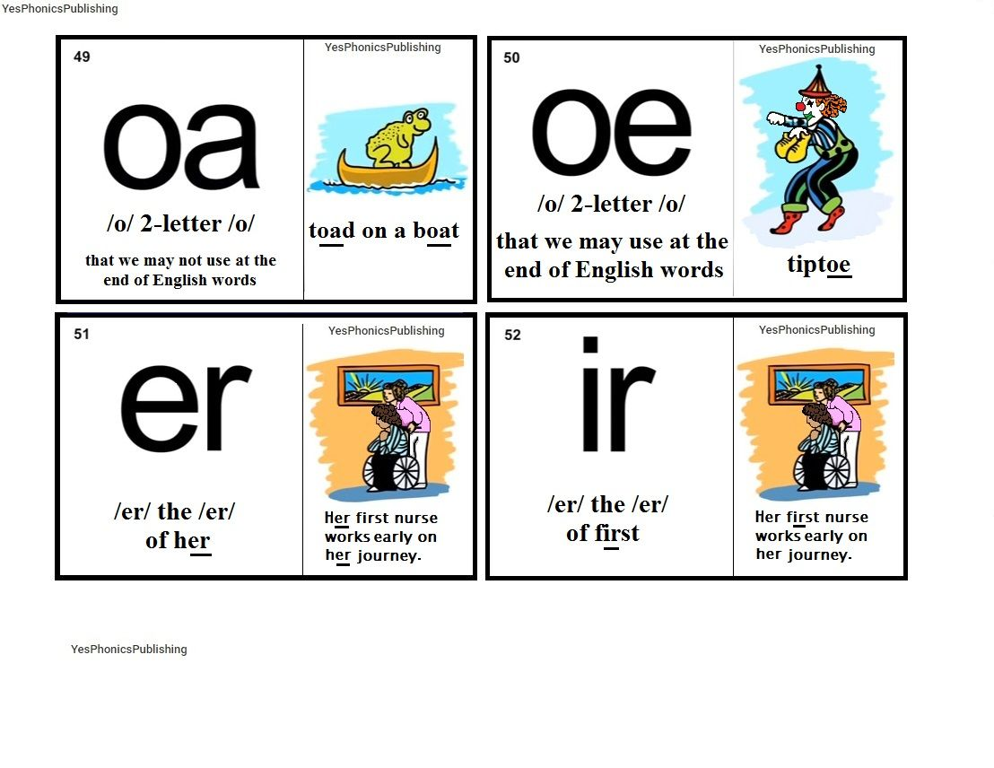 Orton Spalding Phonograms Illustrated Flash Cards Oa Oe Er Ir Phonograms Phonics Reading Phonics Words [ 856 x 1108 Pixel ]