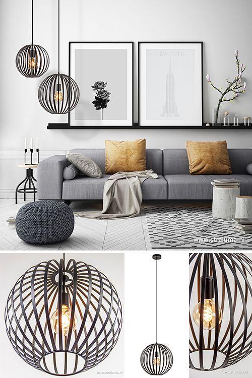 Scandinavische Hanglamp Bol Zwart 40cm Interieur Woonkamer Woonkamer Decoratie Woonkamer Ontwerp