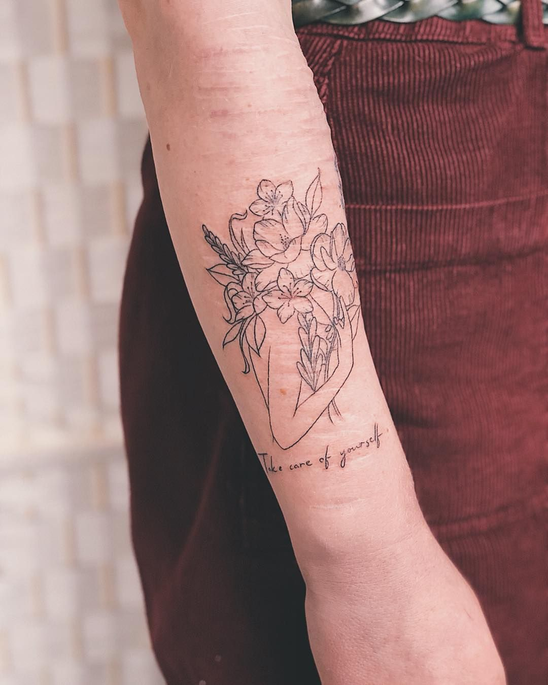"Blackwork Tattoo Florist 🌹 On Instagram: ""'Take Care Of"