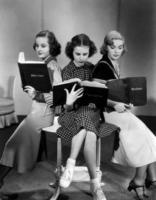Image result for vintage reading images