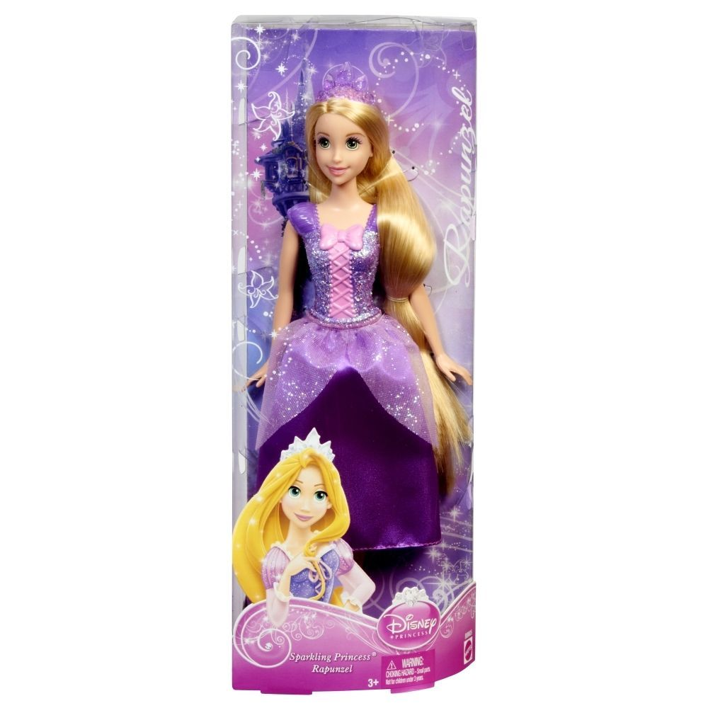 Shipping Included Disney Princess Tangled Rapunzel Deluxe Story Bag Mattel