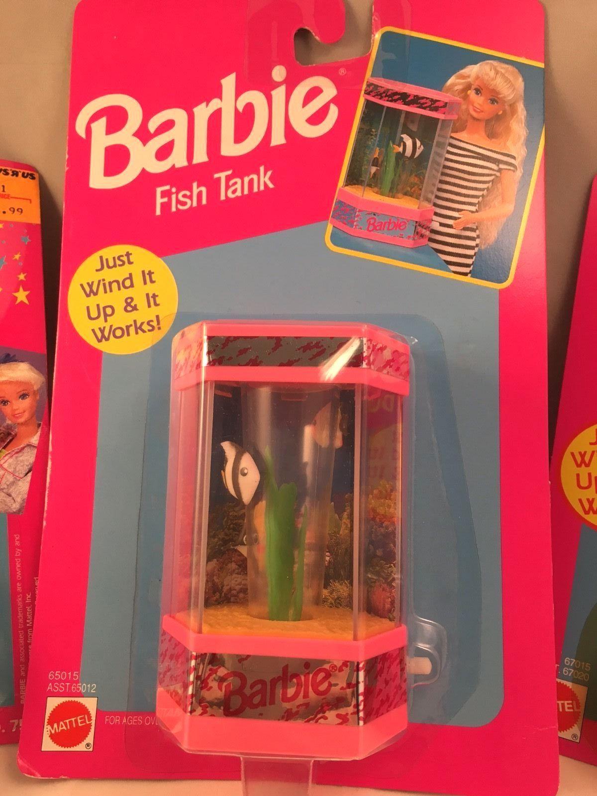 NIP Lot Barbie Magic Moves Video Camera Dustcleaner Fish Tank 1991