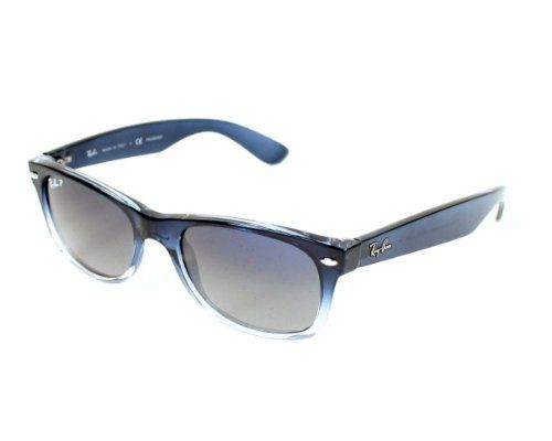 Ray Ban Sunglasses Rb 2132 New Wayfarer Rb2132 822 78 Acetate Plastic Transparent Blue Grey Polarized Ray Ban Http Ray Bans Ray Ban Sunglasses New Wayfarer