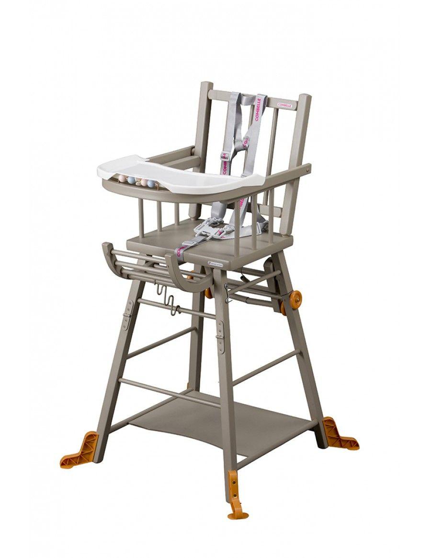 Chaise Haute Transformable Laquee Gris Clair Chaises Traditionnelles Chaises Convertible High Chair Grey Chair High Chair