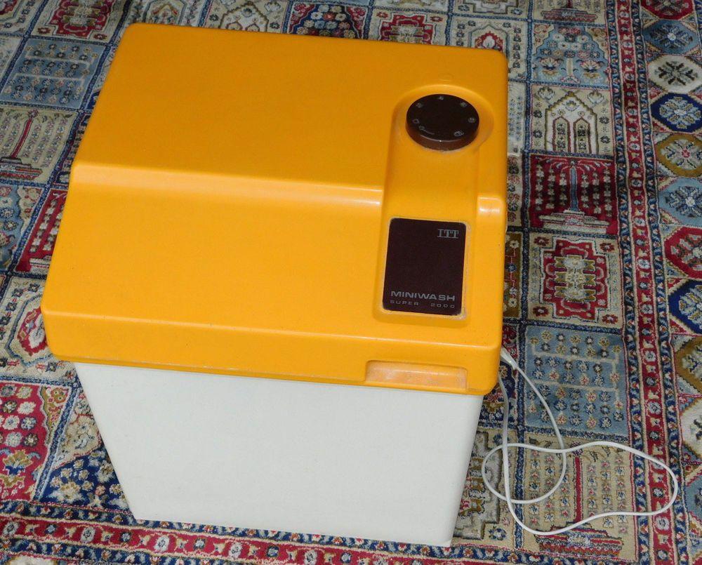 Détails Sur Vintage Machine A Laver De Camping Itt 215