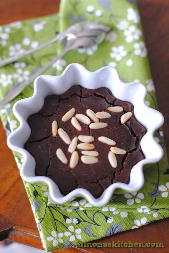 Simona'sKitchen: Castagnaccio al Cioccolato - Chestnut Cake with Chocolate - Castagnaccio au Chocolat