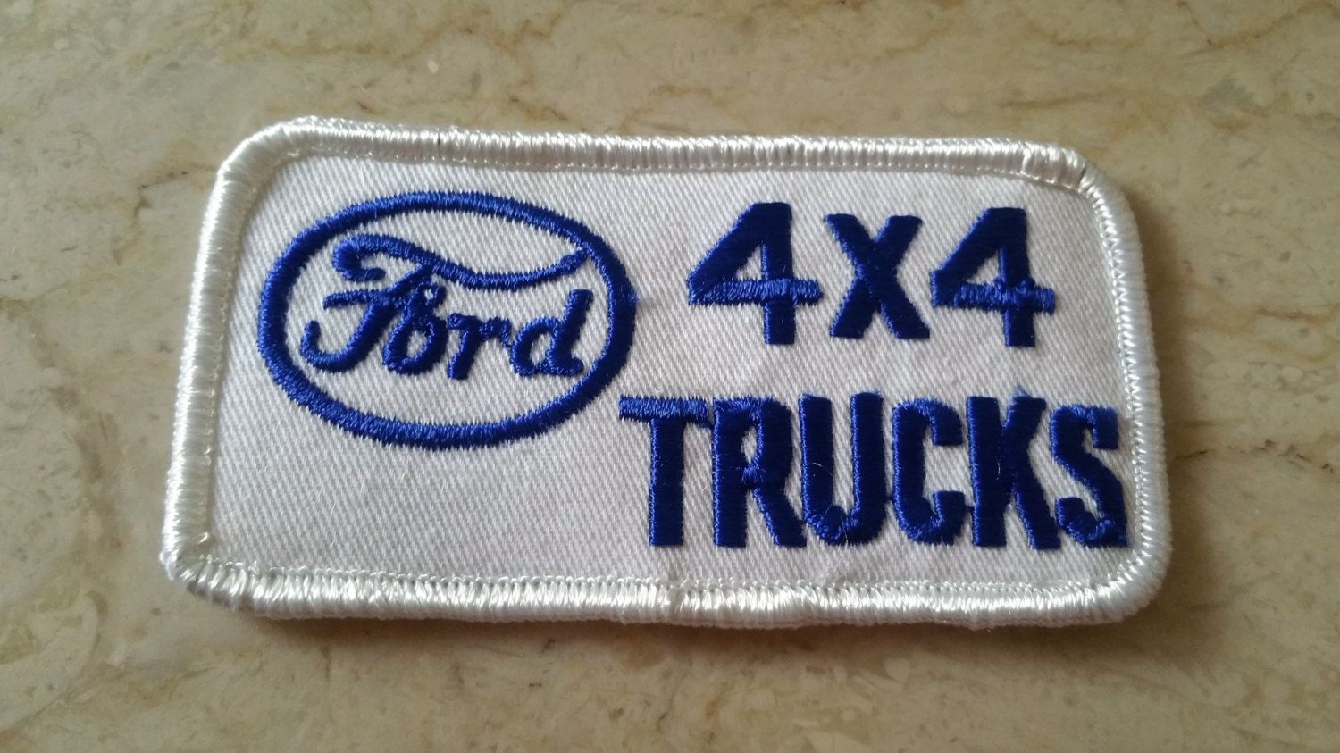 Free Us Shipping 1970s Vintage Ford 4x4 Trucks Embroidered Patch New Old Stock White Blue 2hx4w Nos Ford 4x4 4x4 Trucks Embroidered Patches