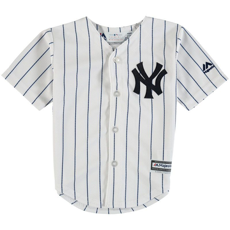 a86f9ded New York Yankees Majestic Toddler Official Cool Base Jersey - White ...