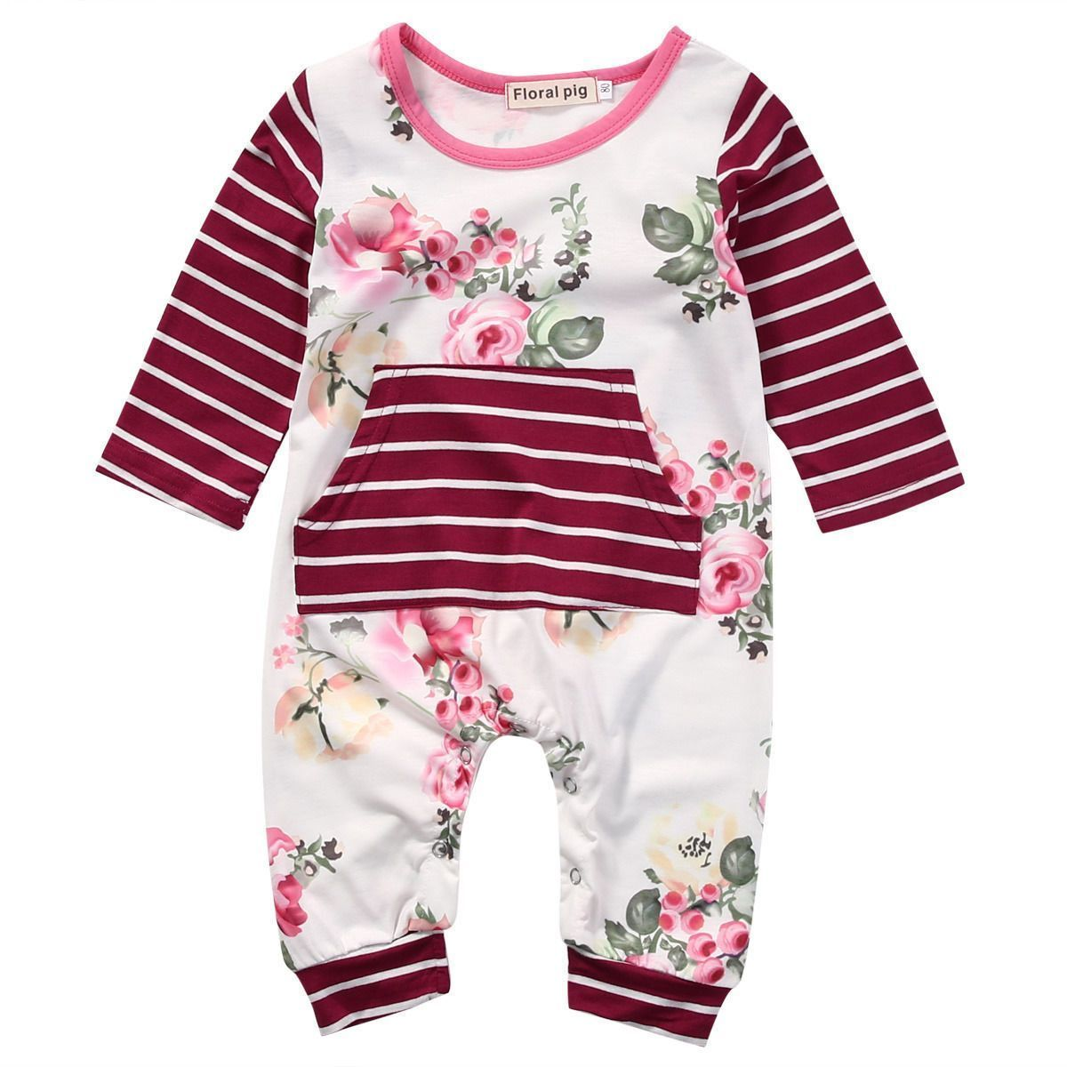 free P/&P all in one new boys one piece Romper long sleeve jumpsuit