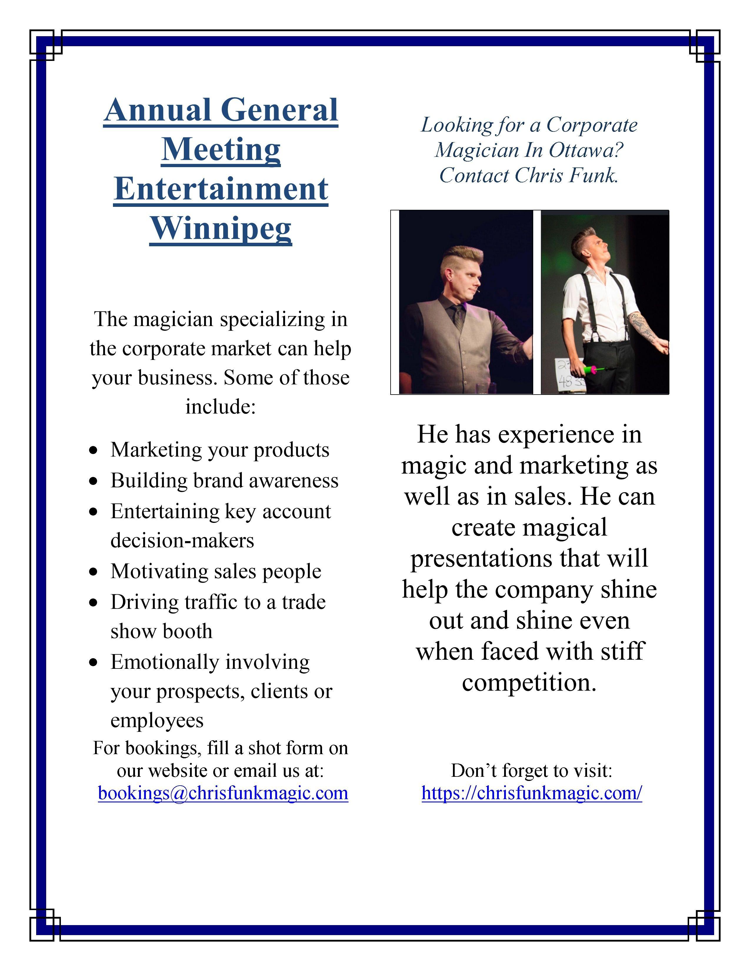 Pin On Annual General Meeting Entertainment Winnipeg