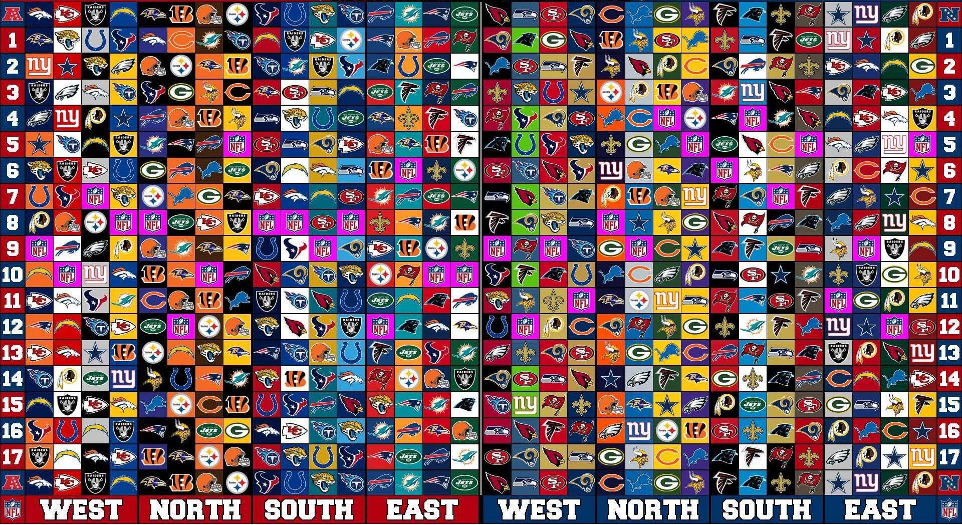 NFL Schedule 20172018 Approximate Release Date Most