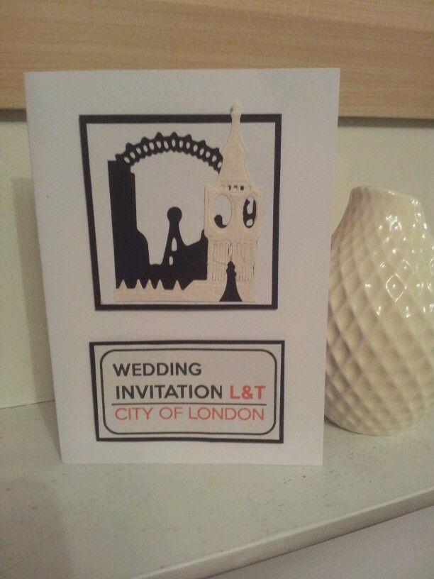 London Themed Wedding Invitation Please Contact Mailtoonceuponad