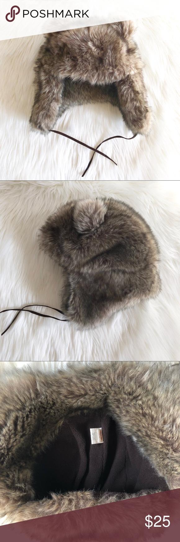 22d487f43b5 Faux fur Bear Hat Trendy super cute winter faux fur hat with little bear  ears!