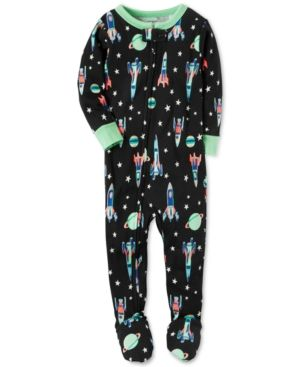 8d27c37255df Carter s 1-Pc. Space-Print Footed Pajamas