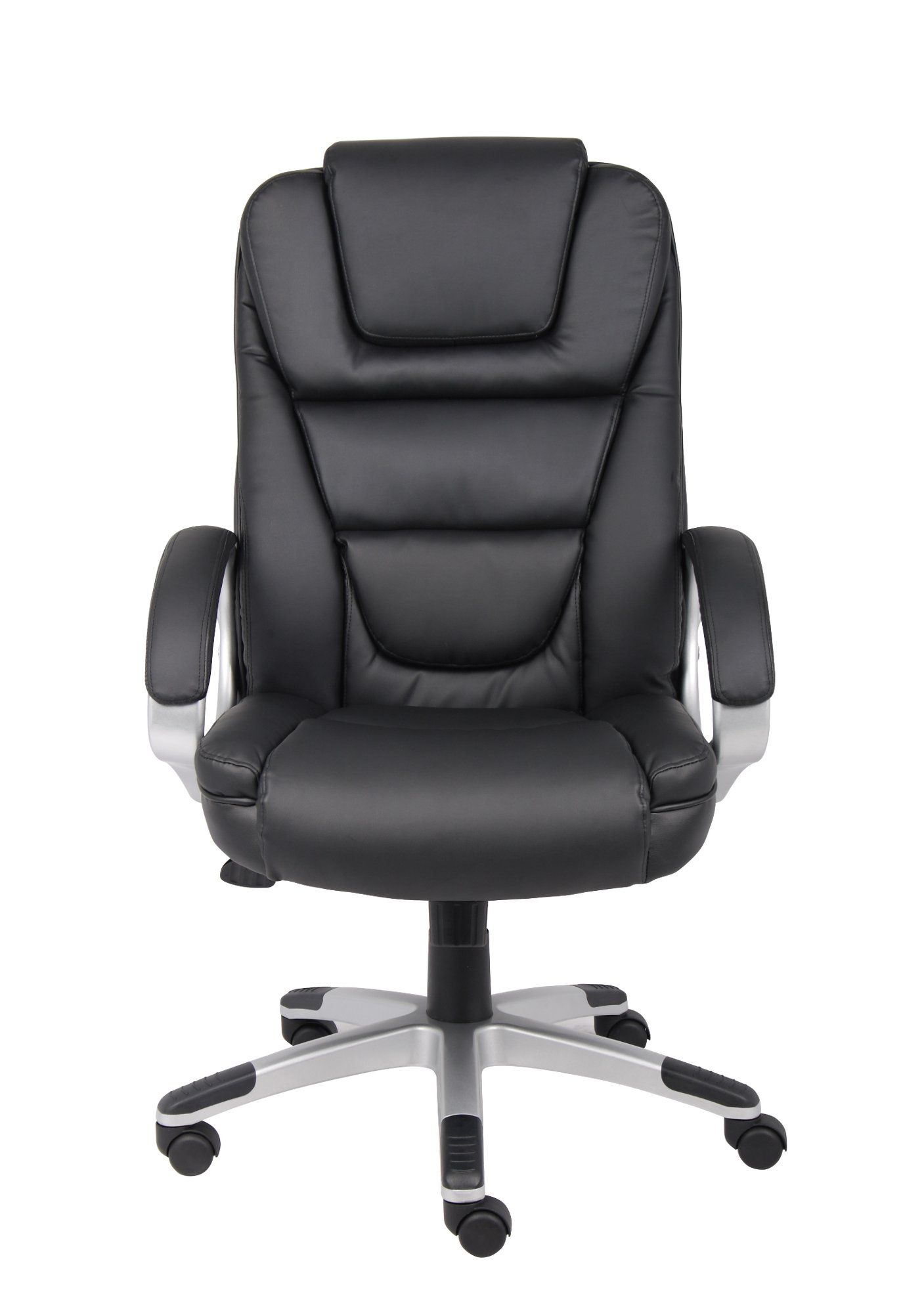 Black Executive Leatherplus Office Chair Modern Home Office