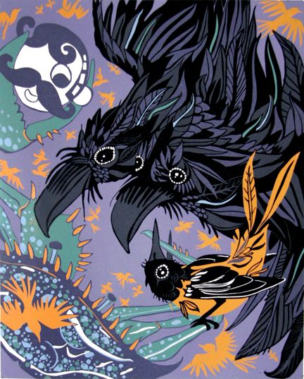 """Baltimore Animalia"" Woodcut"