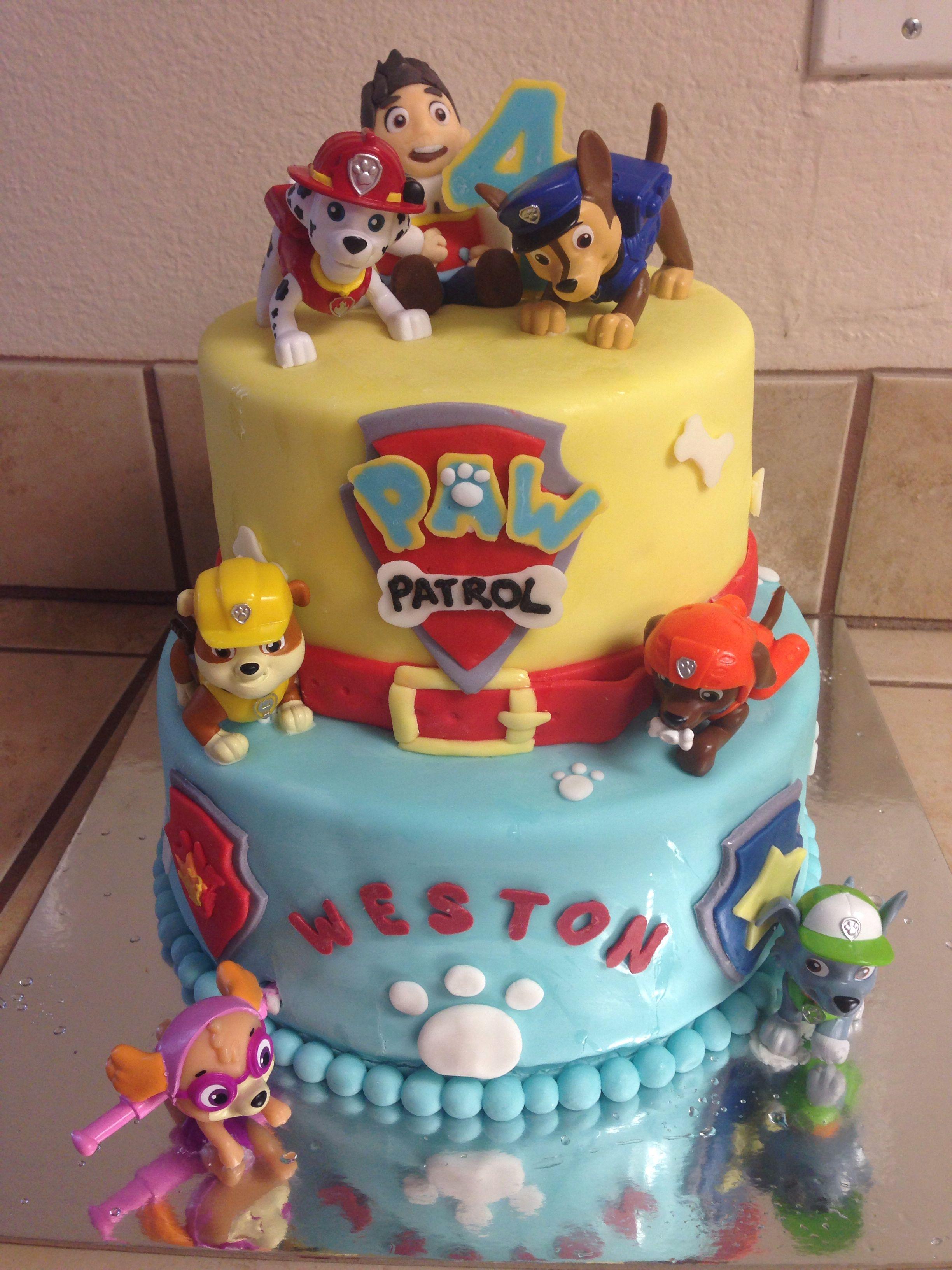 Paw Patrol Birthday Cake Paw Patrol Birthday Cake Paw Patrol