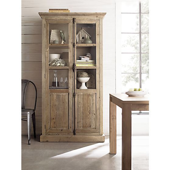 Bedford Tall Cabinet In Dining Kitchen Storage Crate And Barrel We Saw This The Fell Love With It