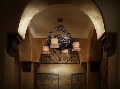 Minka Aire Hearst Castle Ceiling Fan Chandelier Fandelier Belcaro Walnut Ceiling Fan