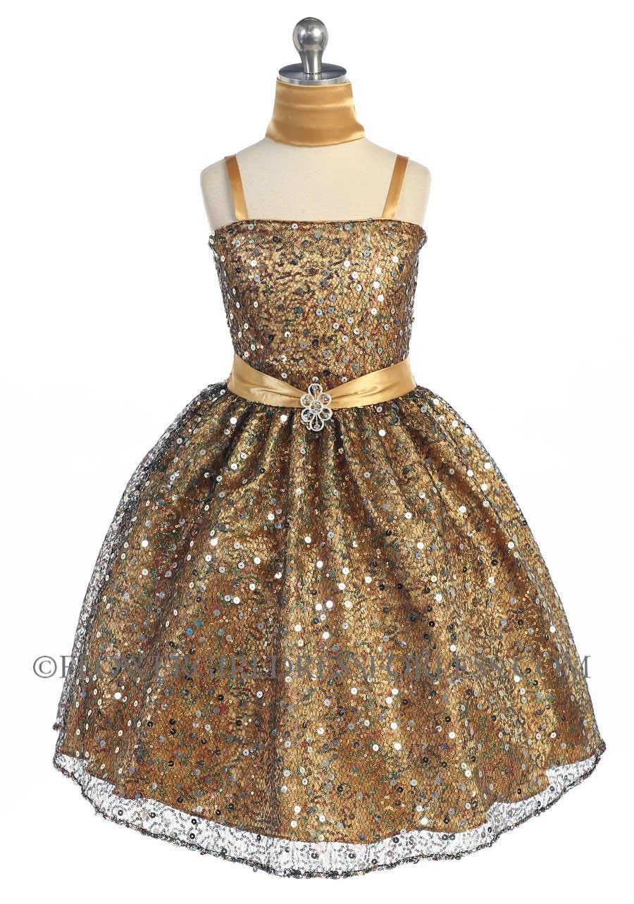 d9986fd4a5 Girls Dress Style D743- Sleeveless Sequin and Charmeuse Sparkle Dress in  Choice of Color  63.99
