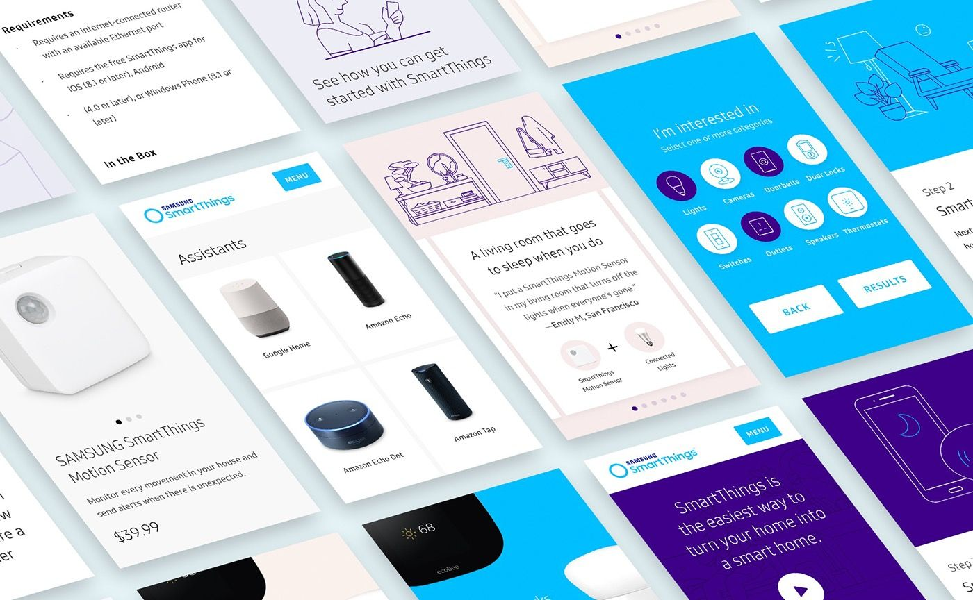 Samsung SmartThings on Behance Smartthings, Web app