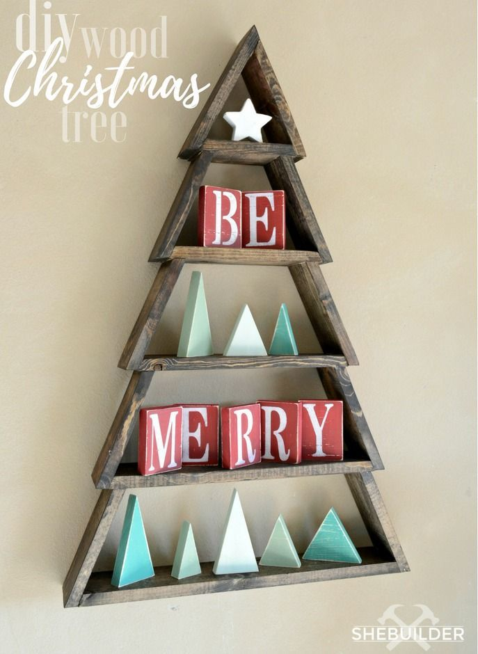DIY Wood Christmas Tree | Ana White #craftsaleitems