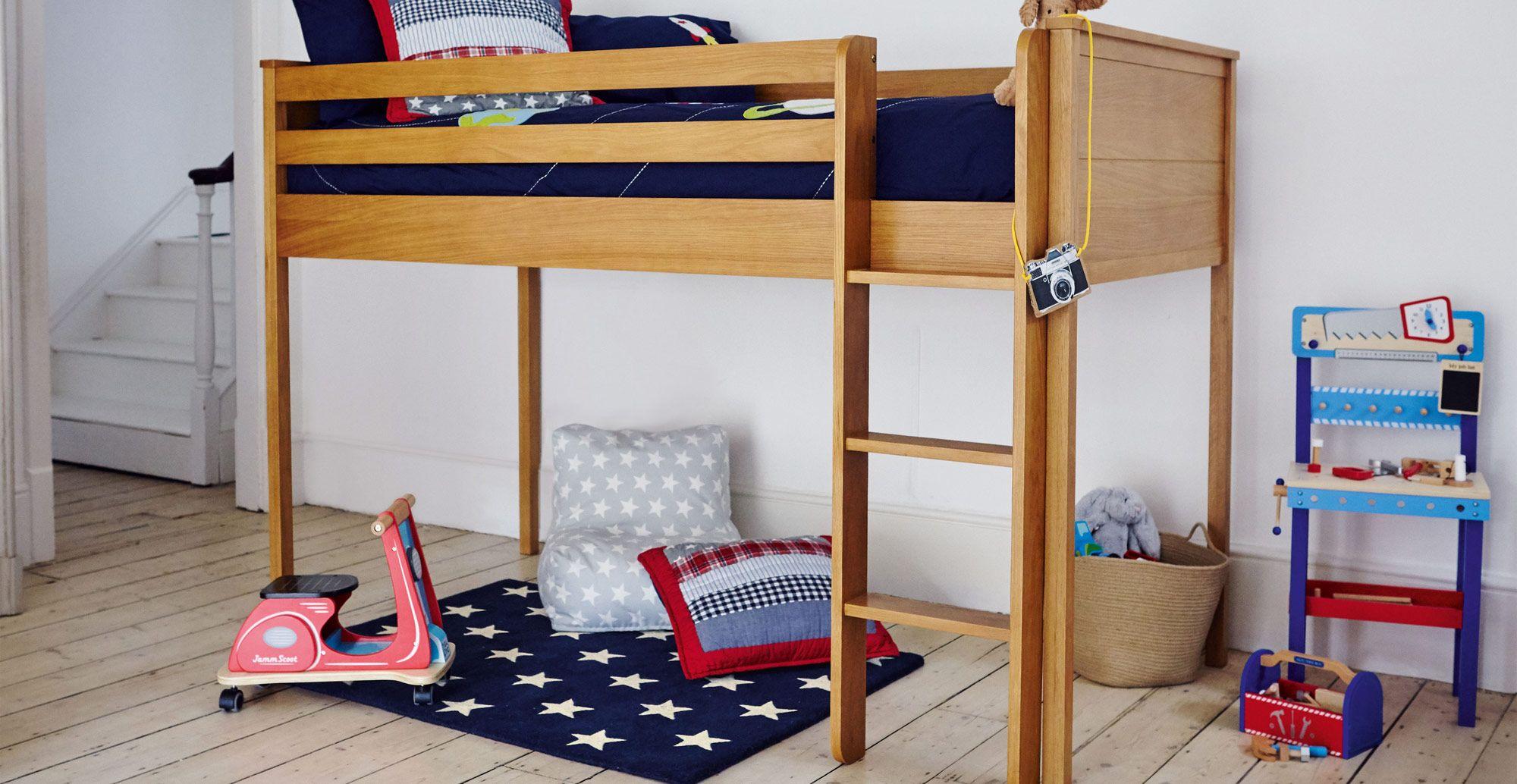 Columbus Mid Sleeper Bed Frame Lit mezzanine enfant