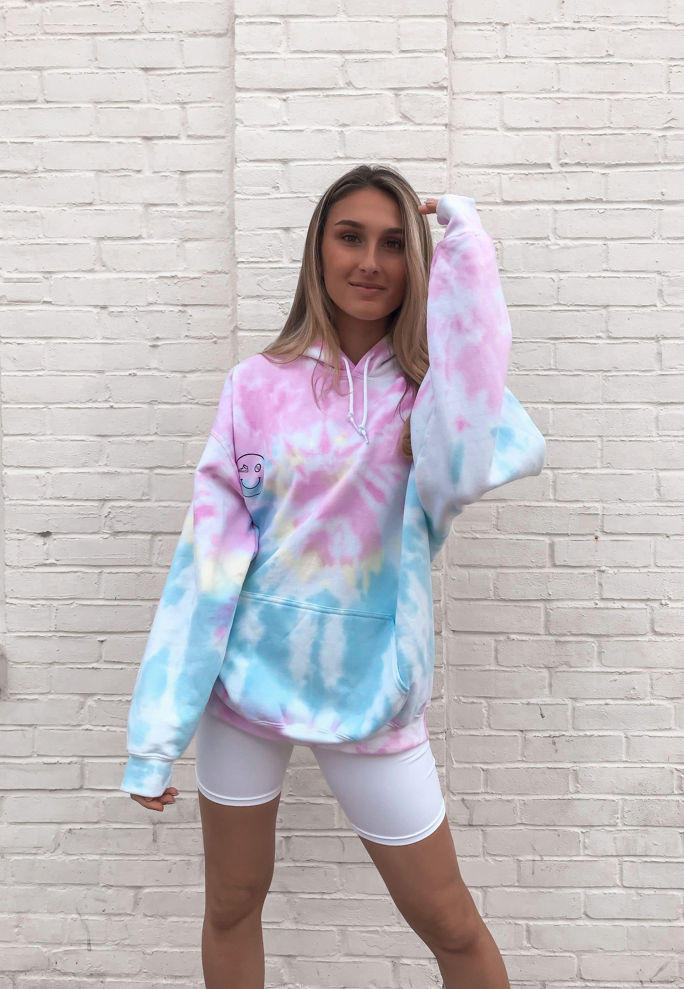 Pastel TieDye Hoodies in 2020 Tie dye hoodie, Tie dye