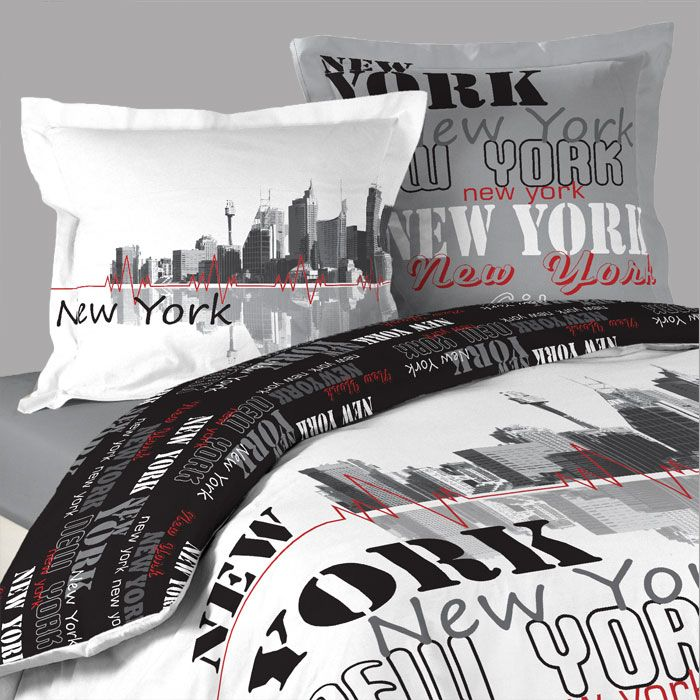 Housse De Couette New York Post 2 Taies Doreillers Httpwww