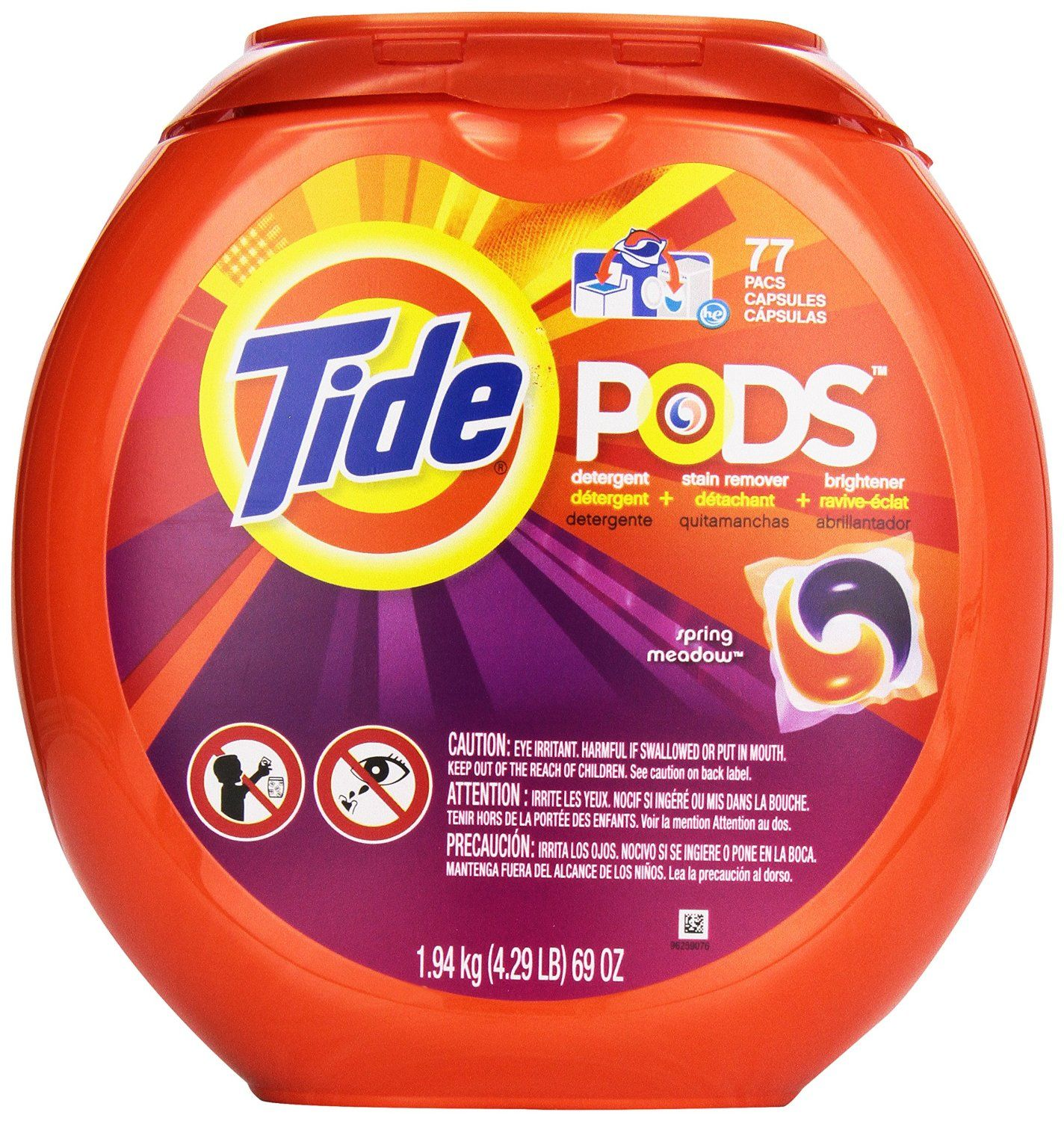77 Count Tide Pods Laundry Detergent Spring Meadow Scent 13 80