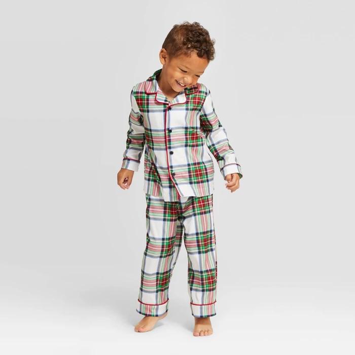 Toddler Plaid Holiday Tartan Flannel Pajama Set