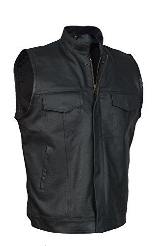 Enjoy Exclusive For Divine Leather Soa Mens Motorcycle Biker