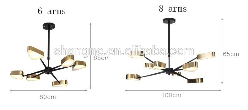 Photo of High quality Contemporary rustic black and gold chandelier pendant light with unique design
