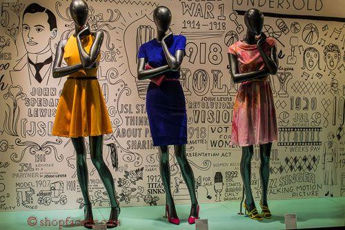 John Lewis - Left: Ted Baker dress: £129; Dune shoes: £65; Middle: Ted Baker dress: £129; Dune shoes: £65; Right: Ted Baker dress: £199; LK Bennett shoes: £185.