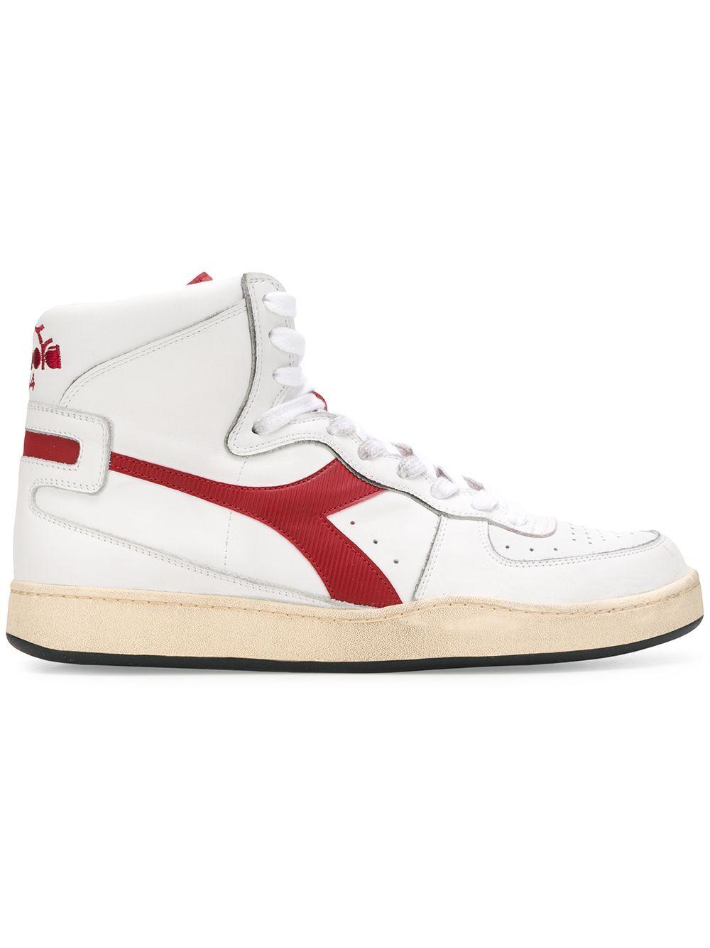 ee1d8de4f3 DIADORA DIADORA HIGH TOP SNEAKERS - WHITE. #diadora #shoes | Diadora ...