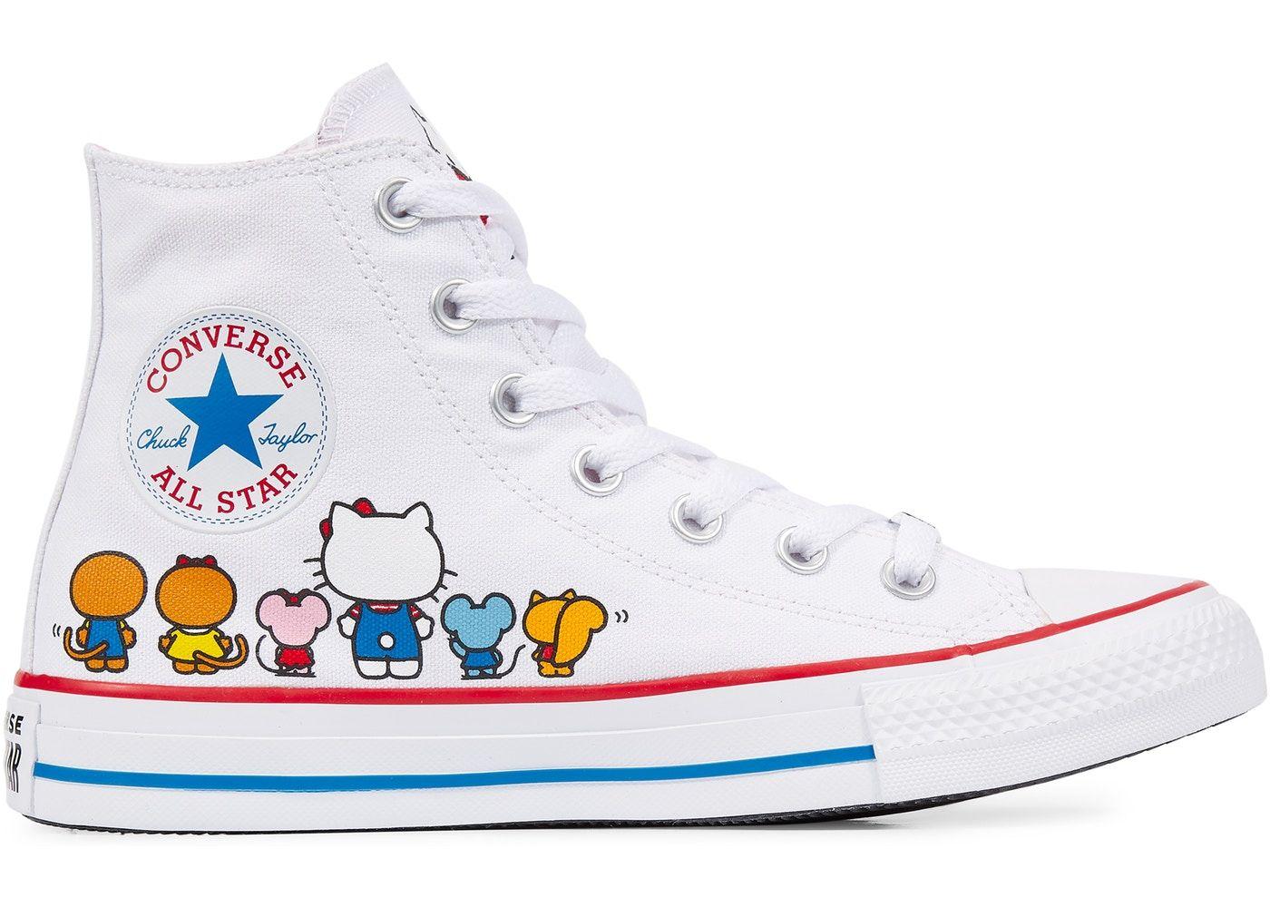 converse all star hi zapatos deportivos mujer hello kitty
