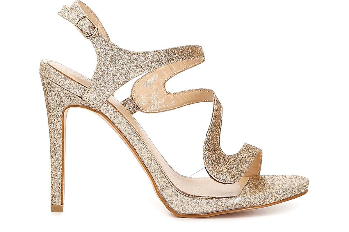 Scarpe Sposa Stuart Weitzman 2013.Sandali Asimmetrici In Glitter E Pvc Trasparente Cafenoir Shoes