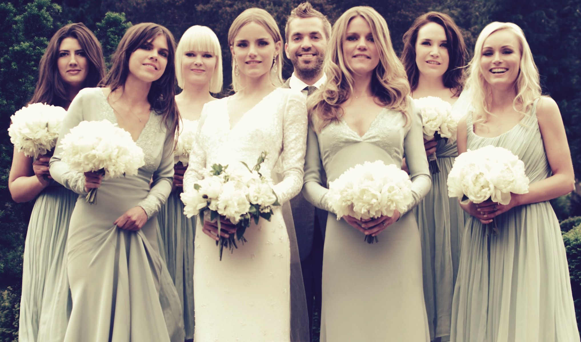 Dhani harrison celebrity wedding poses with mix and match dhani harrison celebrity wedding poses with mix and match bridesmaids ombrellifo Gallery