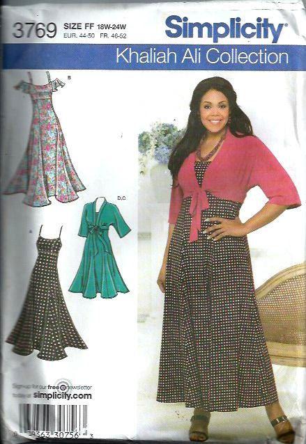 Khaliah Ali Women\'s Dress and Kimono Top Pattern, Simplicity 3769 ...