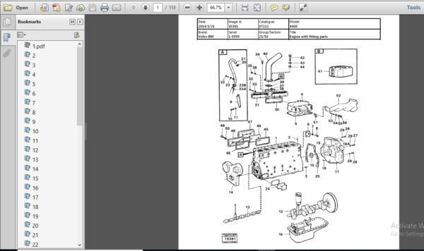 Volvo Bm 4400 Wheel Loader Service Parts Catalogue Manual Parts Catalog Instant Download Pdf Pdf Download