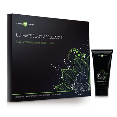 It works 4 wraps and defining gel a 115.00 product for only 69.00 when you pay for3 months worth what a deal!!! lose it live it love it feel it you cant beat the price for the amazing results!! or buy a pack of 4 for 100.00 (one wrap is 25.00)