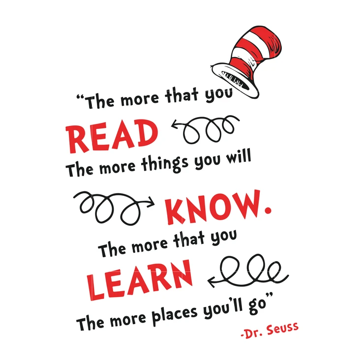 The More That You Read The More Things You Will Know Dr Seuss Svg Dr Seuss Quotes Digital File Dr Seuss Quotes Seuss Quotes Seuss