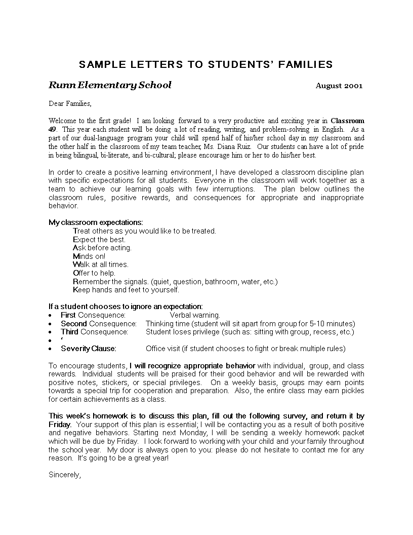 teacher thank you letter to parents  how to write a