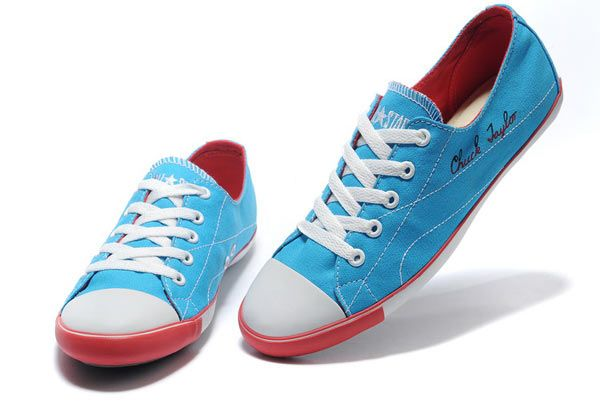 d47f01a42e16a2 Classic Converse Chuck Taylor All Star Princess Series Women s Canvas Shoes  Low Top Blue Red
