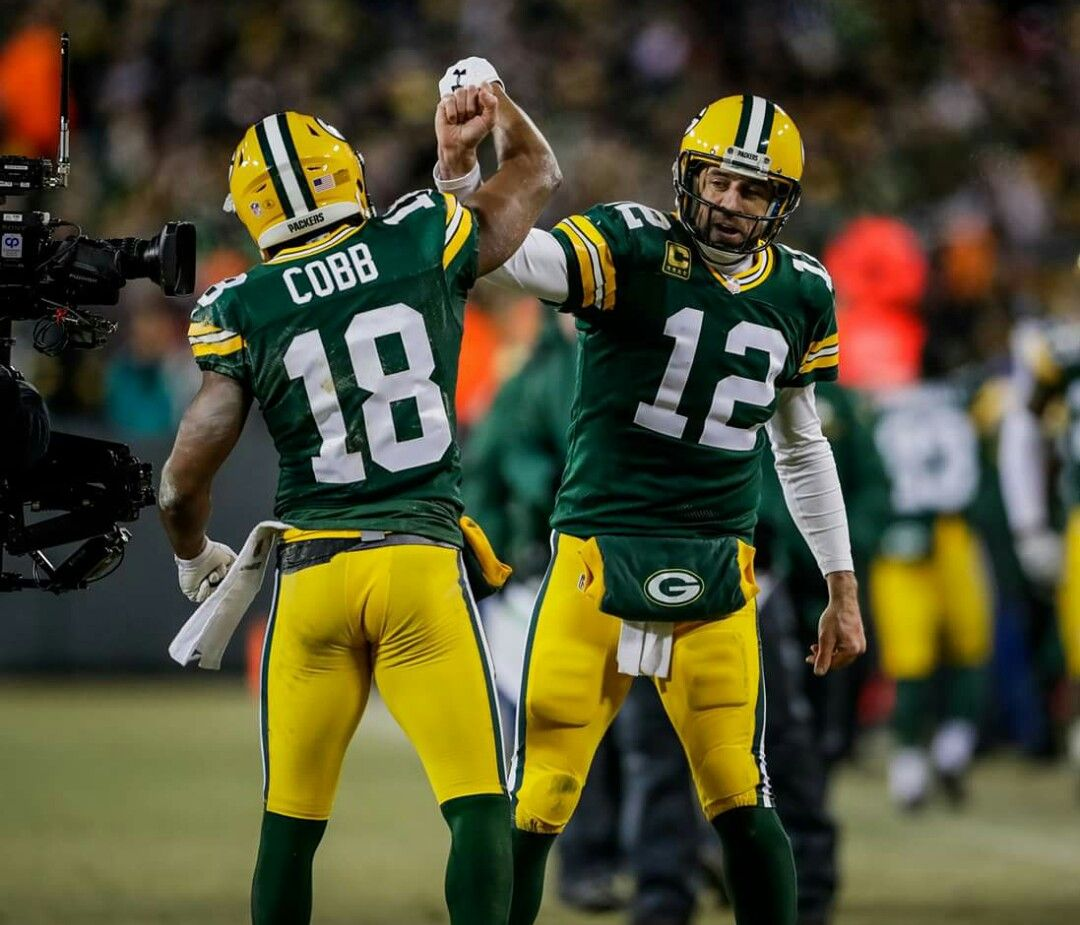 Randall Cobb And Aaron Rodgers Green Bay Packers Rodgers Green Bay Packers