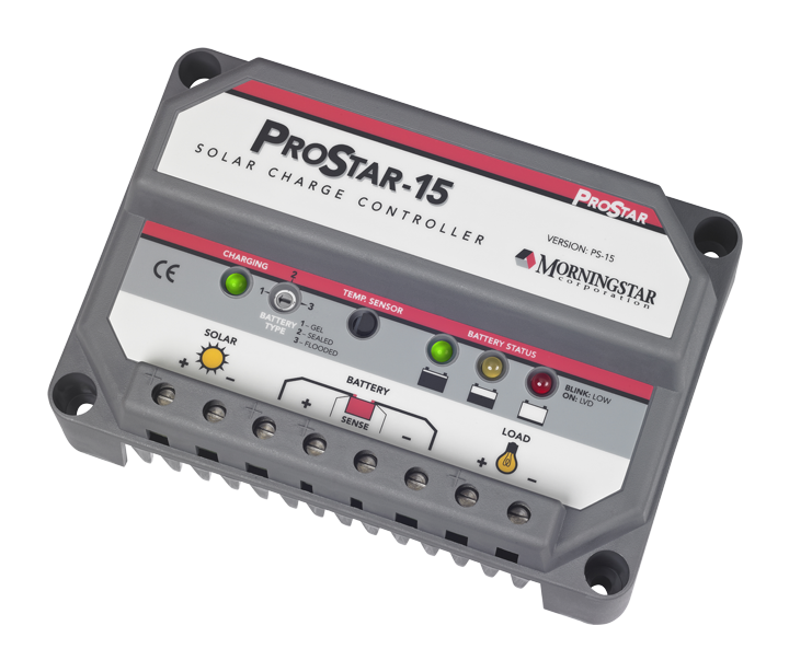 Morningstar Prostar Solar Controller Ps 15 15a Morningstar S Prostar Is The World S Leading Mid Range Solar Controller For B Solar Solar Battery Lcd Monitor