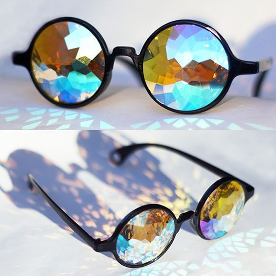 Fashion Retro Round Kaleidoscope Sunglasses Men Women Designer Eyewear lens Glas ejVA8