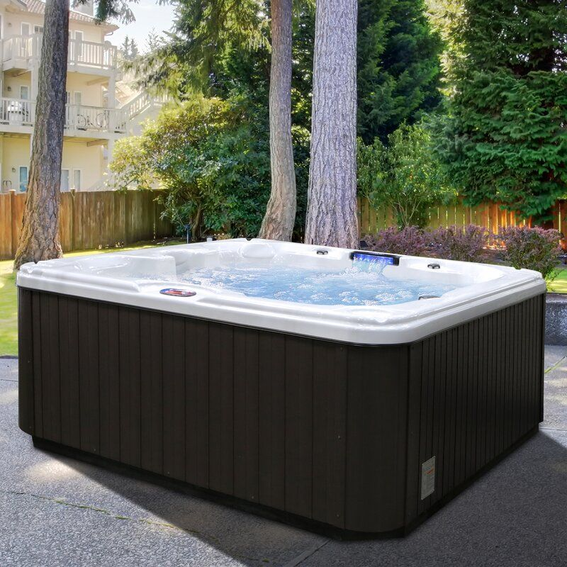 7 Person 30 Jet Hot Tub With Backlit Led Waterfall In 2020